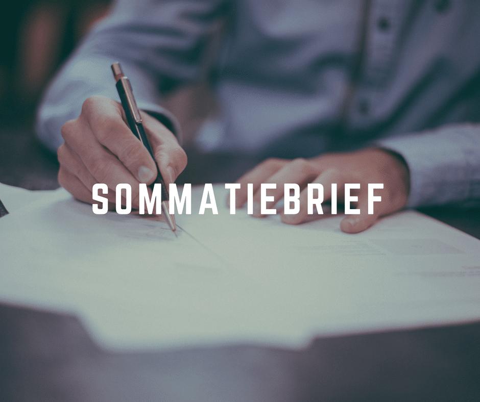 sommatiebrief